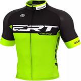 Camisa Ciclismo Mtb Ert Elite Racing Verde Preto