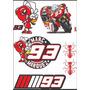 Adesivo Moto Gp Marq Marquez Cartela Tamanho 21 X 30 Cm