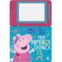 Livro Lousa Magnética Peppa Pig Meus Primeiros Desenhos Prom