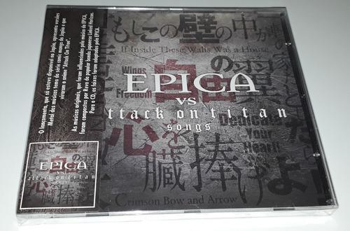 Epica Vs Attack On Titan Songs (ep) (cd Lacrado) Original