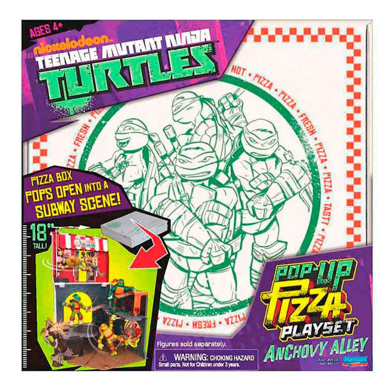 Tartarugas Ninja Playset Pop Up Pizza Multikids - BR155