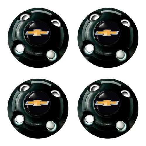 Jogo 4 Calotas Centro Roda Ferro Gm Onix Prisma Aro 14 15 Original