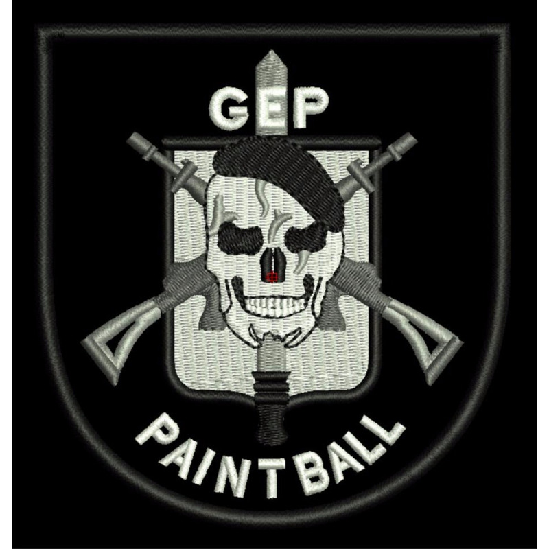 Distintivo Bordado GEP - Paintball