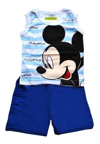 Conjunto Camisa E Bermuda Microfibra Infantil - Brandili Original