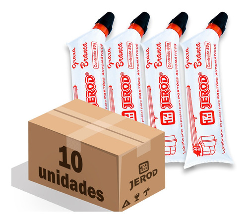 Graxa Branca Portões Automáticos Jerod 80g - Kit C/ 10 Un Original