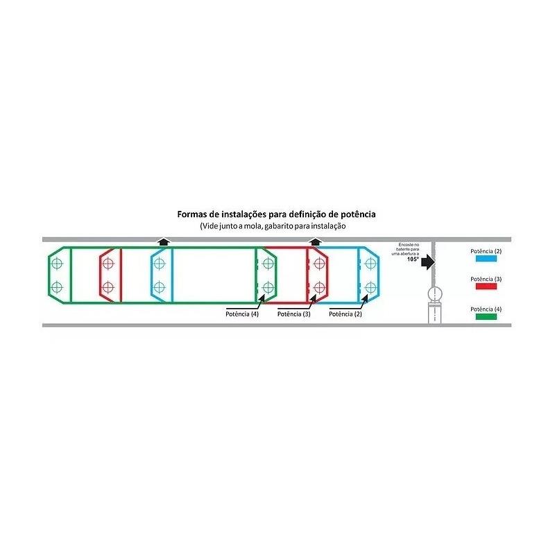 BD200/UP Preto Mola Aerea Hidraulica Preto com Potencia
