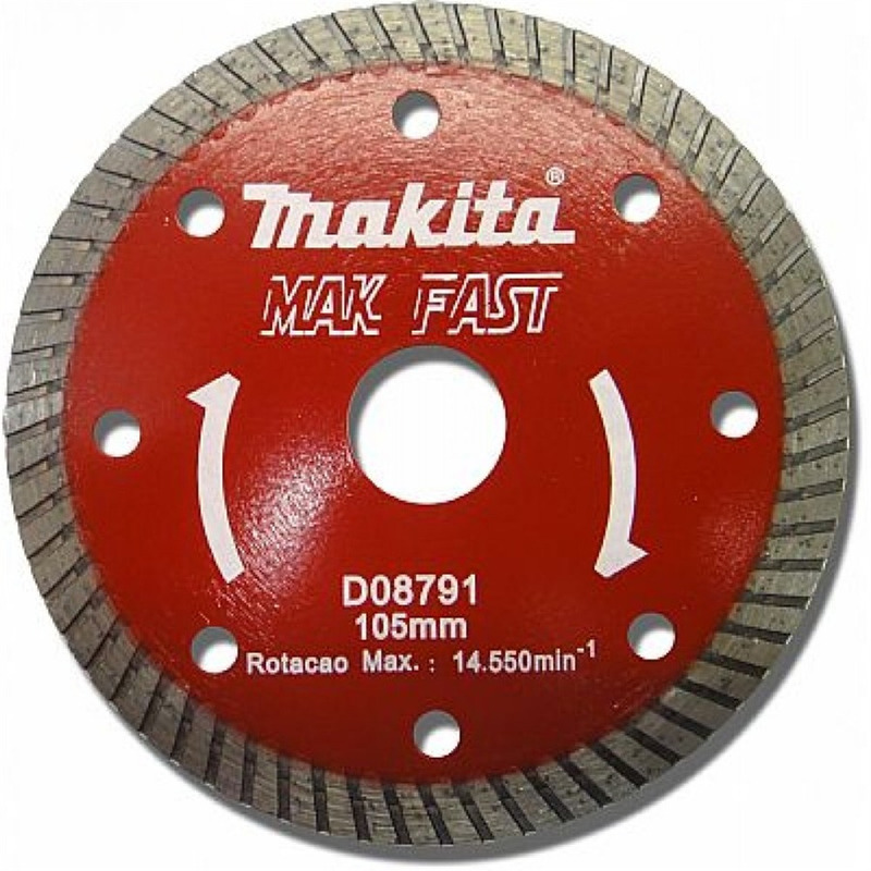 "Disco Diamantado Turbo 105 mm (4.1/8"") Mak Fast - Makita - D-08791"