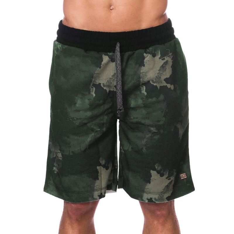 Bermuda de Moletom Long Island Verde Militar