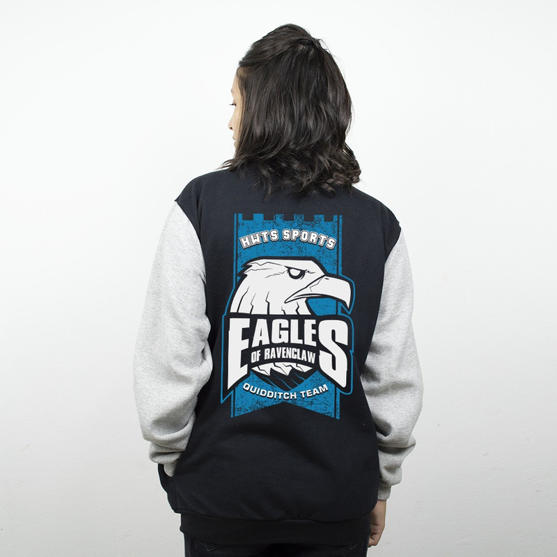 MOLETOM COLLEGE PRETO - EAGLES