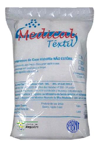 Compressas De Gaze 9 Fios Com 500 Unidades Medical Têxtil Original