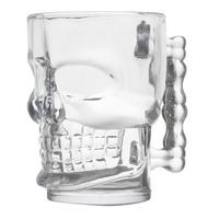 Caneca para Chopp e Cerveja em Vidro Caveira Rock Style 510Ml - Lyor 4106623