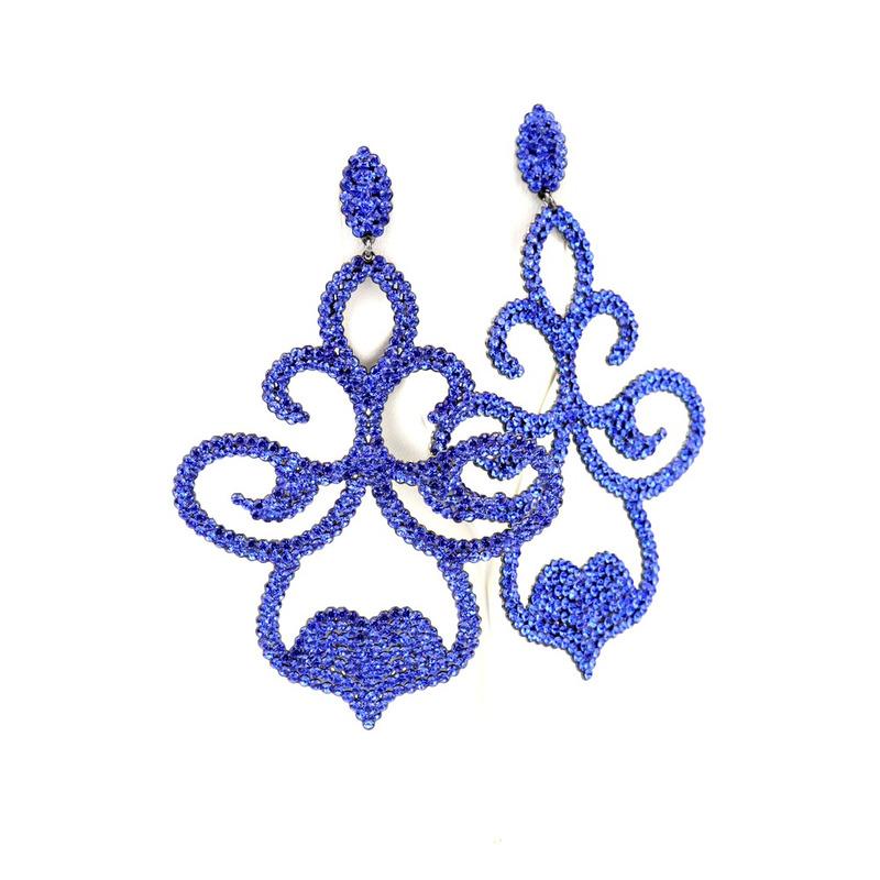 BRINCO FESTA CRISTAL PRECIOSA TREVO CAPRI BLUE - BR010255