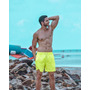 10 Bermuda Neon Verde Marca Texto De Praia Verão