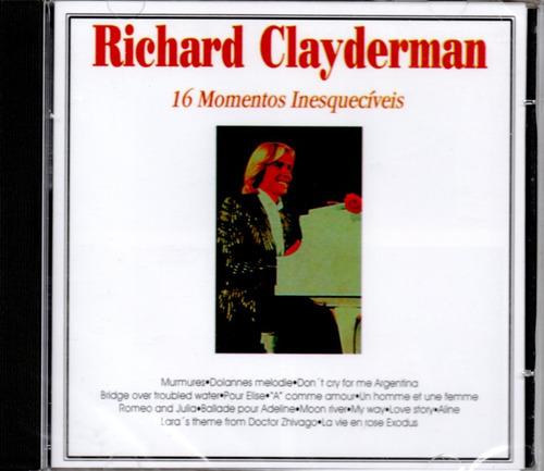 Cd Richard Clayderman - 16 Momentos Inesquecíveis Original