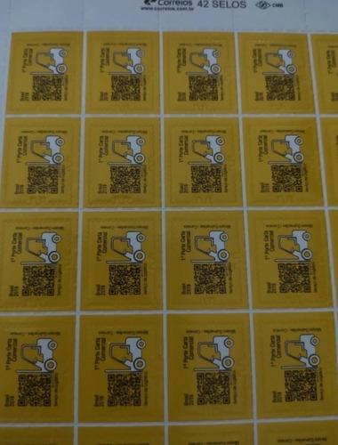 10 Cartelas 420 Selos Carta Comercial  Original