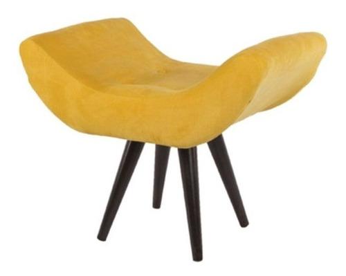 Puff Pufe Decorativo Maisa Sala Quarto Loja Suede Amarelo Original