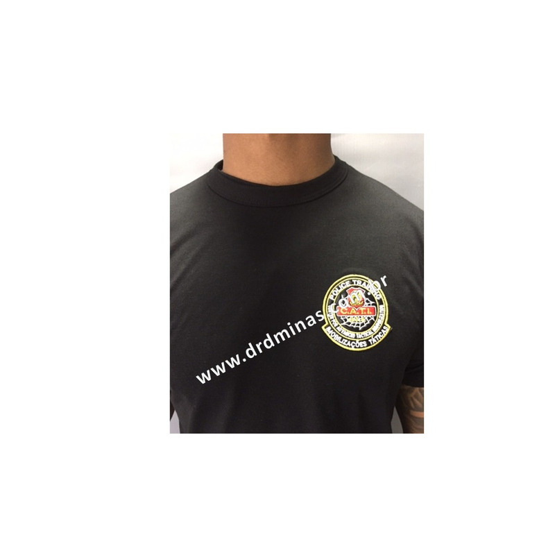 Camisa Preta CATI SWAT - Bordada