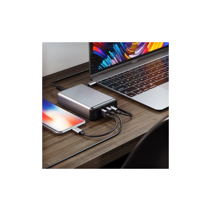 Carregador Fonte Travel Satechi Usb-c 75w Macbook Pro 2018