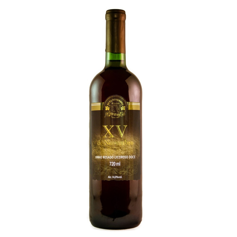 Vinho Rosado Licoroso Doce 720ml - XV de Novembro