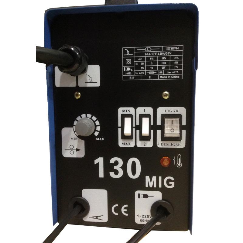 Kit Maquina De Solda Mig 130 Nao Usa Gas 127volts + Arame+brinde