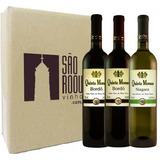 Kit Vinho Bordô Suave + Seco + Branco Niagara - Quinta Moraes