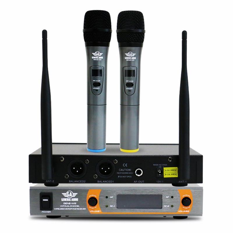 Microfone Sem Fio Duplo Gene-w2 General Audio