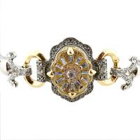 Colar chocker detalhe dourado e prata - CL020134
