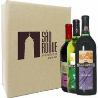 Kit Vinho Bordô Suave + Seco + Branco Niagara - Bella Aurora