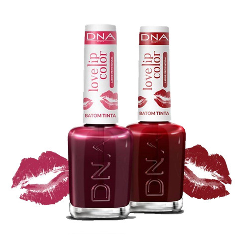 Dna Love Lip Color Batom Tinta Com 2: Love Red + Love Cherry