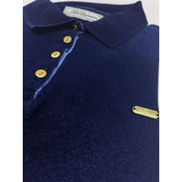 POLO FEM PIQUET INDIGO DENIM