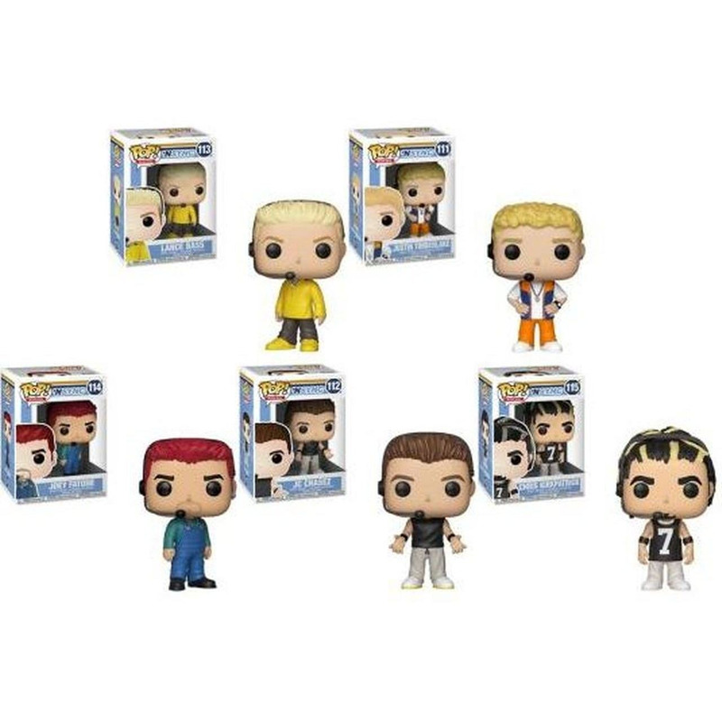 Funko Pop Set NSYNC - 5 Personagens - Rocks
