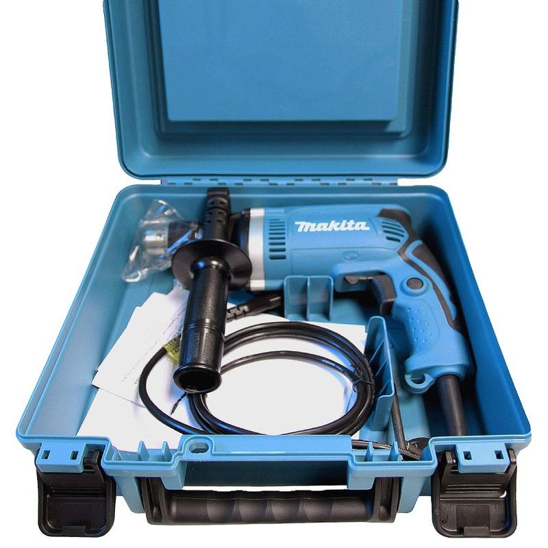 "Kit Furadeira de Impacto 1/2"" 710W HP1630K + Kit de Brocas CT Concreto 5 Peças D-03894 - Makita - 220 Volts"