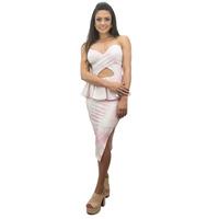 VESTIDO ROSA CANDY FLORAL COM BABADO TOMARA QUE CAIA - RVE00016