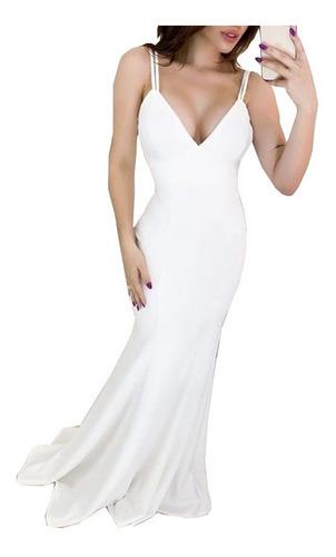 Vestido Longo Sereia De Noiva Casamento Civil  Festa #vl20 Original