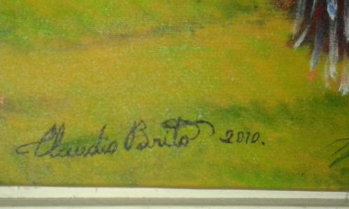 Quadro De Claudio Brito, Pintura Em Óleo Sobre Tela Original