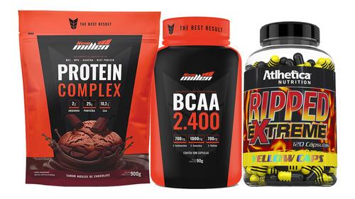 Termogenico Ripped Fast + Whey Protein Complex + Bcaa 2400 Original