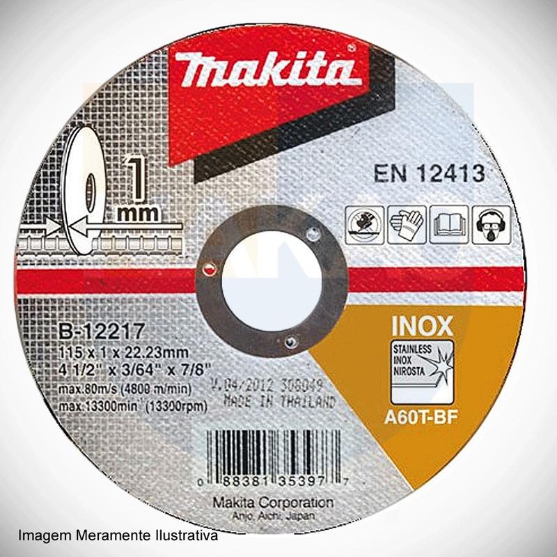 "Disco Abrasivo de Corte para Inox 115 x 1.0 x 22.3 mm (4.1/2"") - B-12217-10 - Makita"