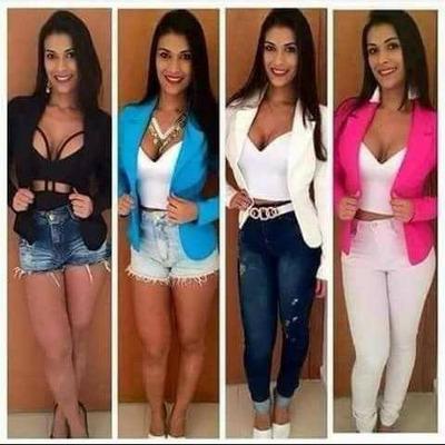 Blazer Casaco Jaqueta Terninhos Femininos Coloridos em Paulínia