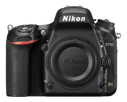 Nikon D750 Dslr Preta Corpo Nova Garantia De 12 Meses Original