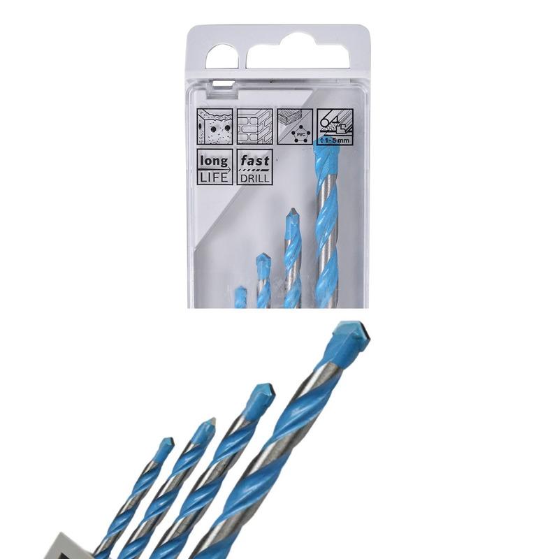 Jogo de 4 Brocas Multi Construction - Bosch - 2607018285000<BR>