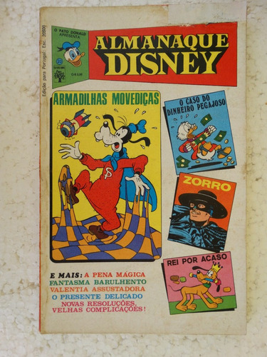 Almanaque Disney Nº 20! Editora Abril Jan 1973! Original