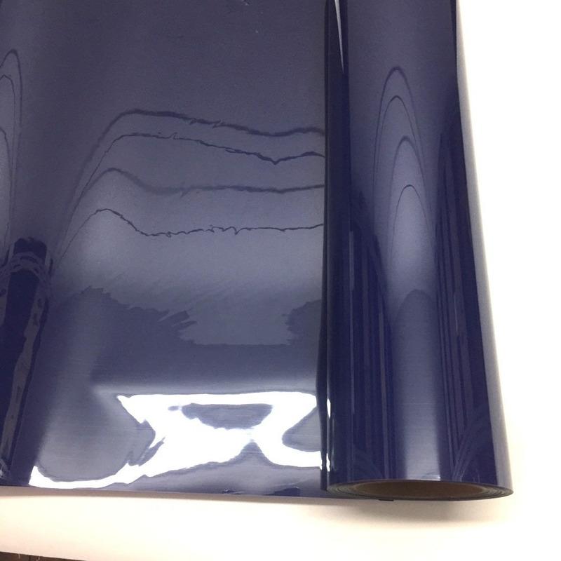 Filme para estampa - power film (pvc) larg. 0,50 m azul marinho