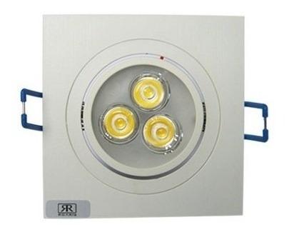 10 Lâmpada Super Led 3w Spot Quadrado Embutir Quente Frio Original