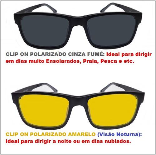 ... comprar Armação P Óculos De Grau Clip On M7 Polarizado 100% Uva uvb ... e6e5ef4ad7