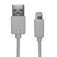 Cabo para iPhone 5/6/7/8 1M Plug&Play Multilaser Branco