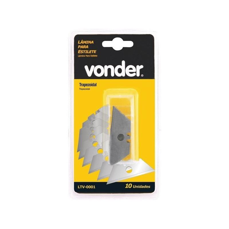 Lâmina Trapezoidal Tubete C/10PCS- Vonder