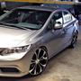 Rodas Kr Civic 2016 Preta Diamantada 20 Pneus 225/30/20