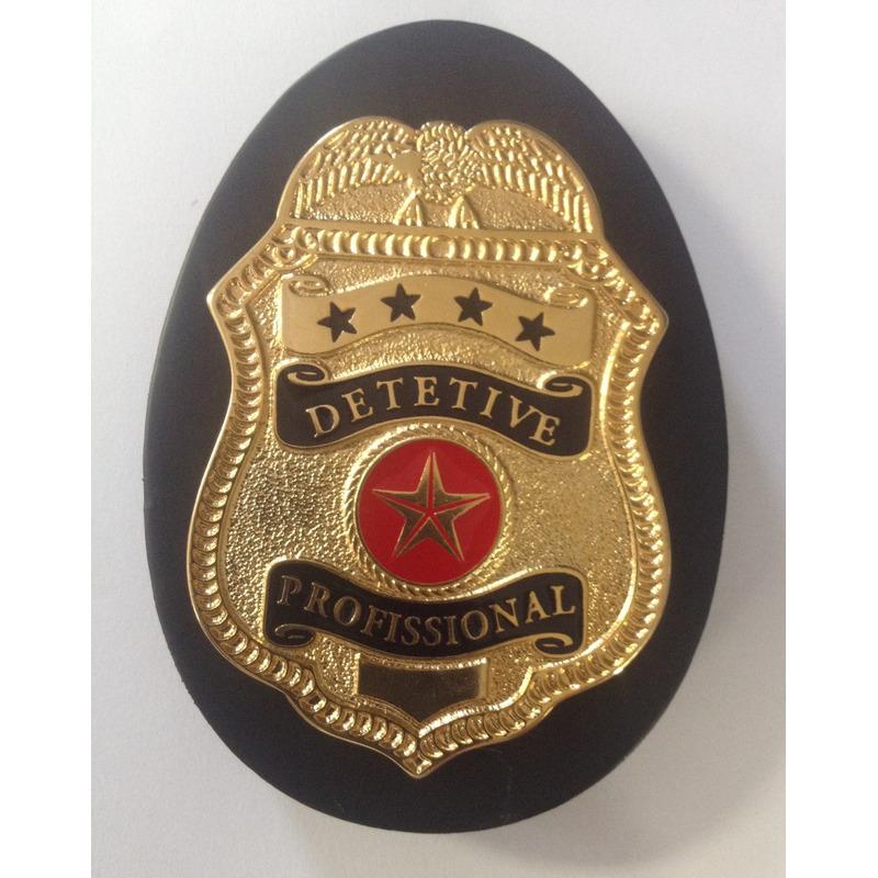 Distintivo Detetive Profissional- Cordão