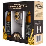 Kit Cerveja Beer One (c/ 2 unid Cerveja 500ml + 1 taça 500ml) - Stoliskoff