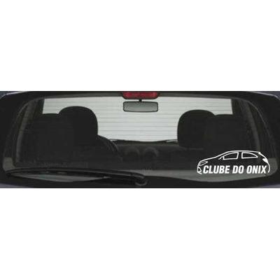 Adesivo Decorativo Automotivo Chevrolet Onix Clube 15cm